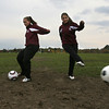 Gloucester: Gloucester girls soccer players Kali Cook and Bianca Giacalone, both high-scoring sophomores, have helped the Fishermen to the Division 2 North tournament. Photo by Kate Glass/Gloucester Daily Times