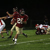 Gloucester: Gloucester's Brandon Cusumano returns a punt for a touchdown during their game against Masconomet at Newell Stadium last night. Photo by Kate Glass/Gloucester Daily Times
