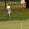 Beverly: Manchester Essex's Josh Christopher chips onto the 9th green at Beverly Golf and Tennis during the Division III State Tournament yesterday. Photo by Kate Glass/Gloucester Daily Times