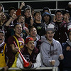 """Gloucester: Gloucester fans cheer """"To the River!"""" as the Fishermen charge up the field during their game against Masconomet at Newell Stadium last night. Photo by Kate Glass/Gloucester Daily Times"""