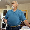 Captain Phil Cusumano, describes plans for a proposed Breakwater Marina which would sit in Gloucester Harbor and would offer an additional 30 transient boating spots. David Le/Gloucester Daily Times