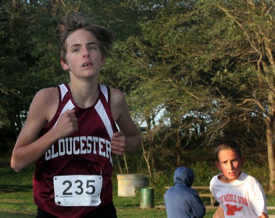 Gloucester's Kenny Whitehead runs through Stage Fort Park with the boys Northeast Conferance at the Jim Munn Invitational at Stage Fort Park on Friday afternoon. Jesse Poole/Gloucester Daily Times Oct. 28, 2011