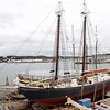 The Roseway Schooner is now docked at Gloucester Marine Railways for hull maintenance in preparation for the winter season in the Caribbean. David Le/Gloucester Daily Times