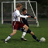 Rockport junior Matt Rostowski, left, challenges Hamilton-Wenham's Nick Fusco for the ball. David Le/Gloucester Daily Times