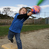 Kyle Collins, 4, of Gloucester, practices his hitting technique at Stage Fort Park on Monday afternoon. David Le/Gloucester Daily Times<br /> , Kyle Collins, 4, of Gloucester, practices his hitting technique at Stage Fort Park on Monday afternoon. David Le/Gloucester Daily Times