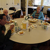 A few Rockport elderly citizens eat lunch together at the Senior Center on Friday morning. David Le/Gloucester Daily Times