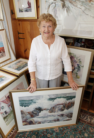 Local artist Margaret Laurie of East Gloucester is retiring from teaching to focus on just her painting. David Le/Gloucester Daily Times
