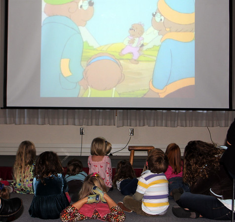 The Berenstain Bears mesmerize children ages three to five Tuesday morning durning Preschool Story Hour at the Rockport Public Library. Jesse Poole/Gloucester Daily Times