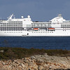 The Seven Seas Navigator cruise ship sat in Gloucester Harbor on Wednesday. David Le/Gloucester Daily Times