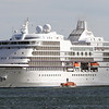The Seven Seas Navigator cruise ship sat in Gloucester Harbor on Wednesday afternoon. David Le/Gloucester Daily Times