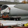 Allegra Boverman/Gloucester Daily Times.  Varian division of Applied Materials employees have been keeping a close eye on the wind turbine pieces as they arrive and are being placed for installation at their facility in the Blackburn Industrial Park.