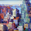 "Courtesy photo. A work by Frank Federico titled ""Cityscape."" It is among Ruth Brown's large art collection."
