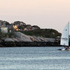 Allegra Boverman/Gloucester Daily Times. Ten-pound Island at sunset on Thursday.