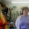 Allegra Boverman/Gloucester Daily Times. From left: Crackerjack's employees Sarah Enos and Lisa LIttlefield talk about how convenient it would be to have a grocery store at Whistlestop Mall again.