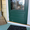 Allegra Boverman/Gloucester Daily Times. Amos the golden retriever waits, perhaps slightly impatiently, at the door for his owner Anna Kasabian, to walk him, as it's his usual time for it - 4 p.m. They walk daily through town to the Manchester town docks where he likes to sit in the pavilion with her and they both savor the breeze.