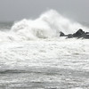 Allegra Boverman/Gloucester Daily Times. High surf along Cape Hedge Beach in Rockport on Monday during the hurricane on Monday.