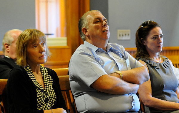 PAUL BILODEAU/Staff photo<br /> <br /> Family members of Eleanor Wadsworth listen to impact statements during the sentencing of Norman Pike in Lawrence Superior Court after he pleading guilty to manslaughter in a 1976 killing in Gloucester.