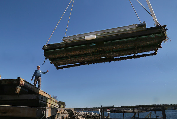 Floating Docks Stored for Winter