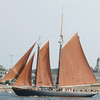 PAUL BILODEAU/Staff photo. The schooner the Roseway during the 30th annual Gloucester Schooner Festival.