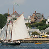 PAUL BILODEAU/Staff photo. The schooner the Thomas e. Lannon Lannon passes by the Boulevard during the 30th annual Gloucester Schooner Festival.