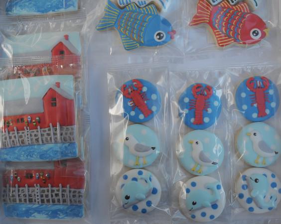 "DIMITRA LAVRAKAS/Staff photo<br /> ""I tend to make thing in miniature,"" Bridget Demaine-Ektröm said of Sugar Buff Bake Shop's petite Motif No. 1, fish and lobster cookies."