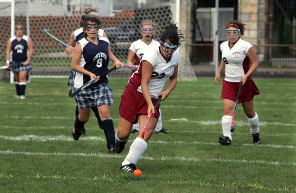 Gloucester: Gloucester's Andi Jane Phinney takes possession of the ball during the first quarter of the field hockey game against Revere Friday afternoon. Mary Muckenhoupt/Gloucester Daily Times