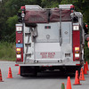 Gloucester: Ken Jones, instructor of Emergency Vehicle Operational Strategies, picks up a cone that was knocked over during training at Stage Fort Park yesterday afternoon. Photo by Kate Glass/Gloucester Daily Times Thursday, September 24, 2009