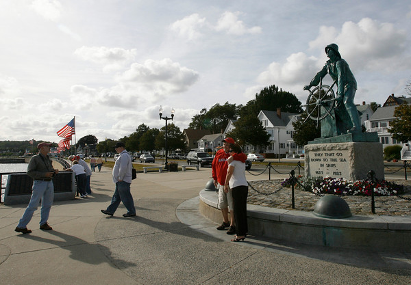 Gloucester: The Man at the Wheel statue, which was chosen over hundreds of sites in the state to be engraved on a series of U.S. quarters, was deemed ineligible because it is not federally maintained. Photo by Kate Glass/Gloucester Daily Times Thursday, September 10, 2009