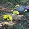 The Wood family created a gravesite for their dog Otis, who died from blunt force trauma two weeks ago. Gloucester Police are investigating the case. Photo by Kate Glass/Gloucester Daily Times Monday, September 28, 2009
