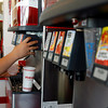 Gloucester: Andreaz Saputo of Gloucester refills his soda at Five Guys Burgers and Fries, which opened at Gloucester Crossing yesterday. Saputo says the restaurant is now his favorite in Gloucester. Photo by Kate Glass/Gloucester Daily Times Monday, September 21, 2009
