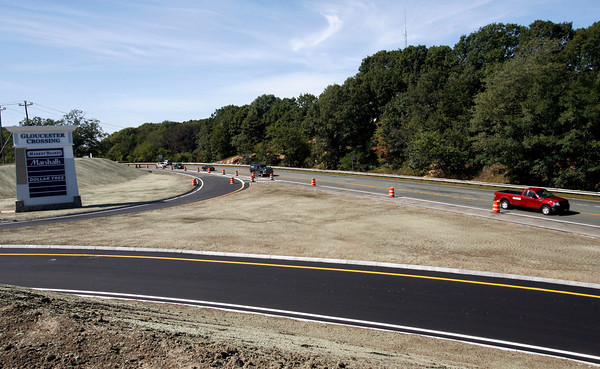 Gloucester: The ramp from Gloucester Crossing to Route 128 is ready for opening tomorrow. Photo by Kate Glass/Gloucester Daily Times Monday, September 14, 2009