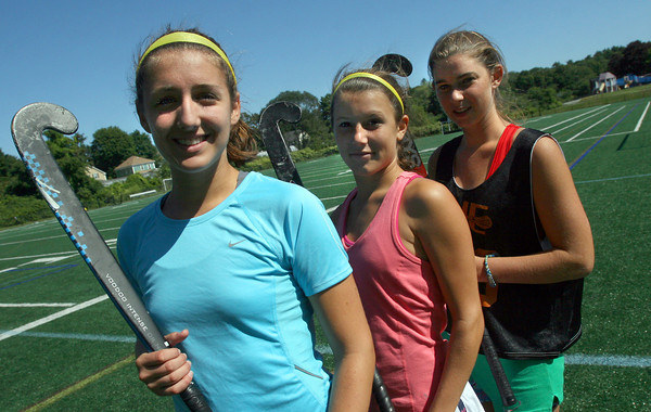 Manchester: The Manchester Essex field hockey team is returning 12 players from last year's team that advanced to the Division 2 North Final, including captains Amelia Cohen, Amelia Burke, and Katie Gavin. Photo by Kate Glass/Gloucester Daily Times Wednesday, September 2, 2009