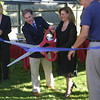 Rockport: Robert Visinic and Christine Marek cut the ribbon to ceremonially open a new rehab suite at Den Mar Rehab on Thursday afternoon as Marylin Militello, left, looks on.<br /> Gloucester Daily Times/Silvie Lockerova