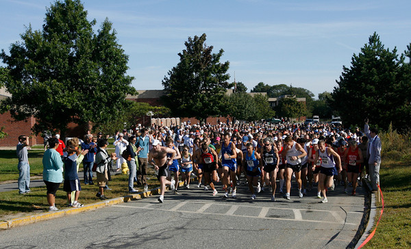 Gloucester: The start of the 76th Around Cape Ann 25K Road Race yesterday morning. Photo by Kate Glass/Gloucester Daily Times Monday, September 7, 2009