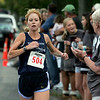 Gloucester: Layce Alves of Rockport was the first woman to cross the finish line of the 33rd annual Magnolia 5K Classic Road Race Thursday evening. Photo by Mary Muckenhoupt/Gloucester Daily Times