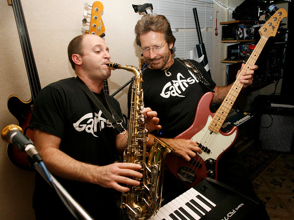 Gloucester: Jeff Worthley, left, and Gar Hiltz of Garfish rehearse for their upcoming performance at the Topsfield Fair on Saturday. Photo by Kate Glass/Gloucester Daily Times Tuesday, September 29, 2009