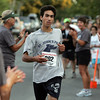 Gloucester: A.J. Rossi, 17, of Manchester was the first to cross the finish line of the 33rd annual Magnolia 5K Classic Road Race Thursday evening. Photo by Mary Muckenhoupt/Gloucester Daily Times