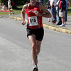 Gloucester: Tristan Colangelo of Gloucester races toward the finish line of the 76th Around Cape Ann 25K Road Race yesterday morning. Colangelo finished in third place with a time of 1:30:20. Photo by Kate Glass/Gloucester Daily Times Monday, September 7, 2009