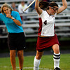 Gloucester: Gloucester's Brianna Alosio celebrates after scoring on a stroke during their 2-1 win over Salem last night. Photo by Kate Glass/Gloucester Daily Times Monday, September 14, 2009