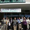 Gloucester: Conley's Drug Store held it's official ribbon cutting at it's new Gloucester location on Railroad Avenue Saturday afternoon.  Pictured, from left, Blaine Hebbel, State Sen. Bruce Tarr, owners Marlene and Richard Doyle, Salvatore Ciolino, owner and pharmacist Alex Doyle, John Connors, owner and pharmacist Bill Caperci, and Mayor Carolyn Kirk. Mary Muckenhoupt/Gloucester Daily Times