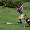 Rockport: Dylan Chaney, a junior at Rockport High School, works on improving his swing during golf team practice at the Rockport Golf Club Thursday afternoon. Mary Muckenhoupt/Gloucester Daily Times