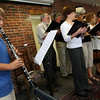 Gloucester: Devan Lockwood, 12, plays the clarinet along with the Temple Ahavat Achim Chorus during a musical service to celebrate Rosh Hashanah, the Jewish New Year, at the temple's Commercial Street site on Sunday. Photo by Kate Glass/Gloucester Daily Times