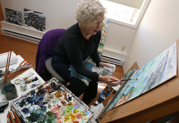 Gloucester: Lucette White will be showing her work at the Mercury Gallery in Rockport starting September 25th. Photo by Kate Glass/Gloucester Daily Times