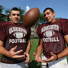 Gloucester: Senior running backs Jordan Shairs and Gilbert Brown will punish opponents this season with both blocking and running. Photo by Kate Glass/Gloucester Daily Times