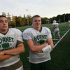 Manchester: Manchester Essex captains Matt Wescott and Alex Carr have taken on additional responsibilities as there are few upperclassmen on the team this year. Photo by Kate Glass/Gloucester Daily Times