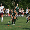 Rockport: Manchester Essex's Hannah Daley takes possession of the ball during the field hockey game against Rockport at Rockport High School Wednesday afternoon. Mary Muckenhoupt/Gloucester Daily Times