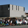 Gloucester: Nearly 100 parents and children held a rally at site of the Gloucester Community Arts Charter School yesterday in support of the school opening. Photo by Kate Glass/Gloucester Daily Times