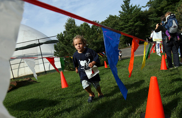 Manchester: Luke DeMaso approaches the finish line of the Manchester Athletic Club Youth Triathlon on Sunday. The event featured three different races for kids age 5-6, 7-10, and 11-14. Photo by Kate Glass/Gloucester Daily Times