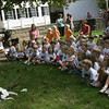 Manchester: Kindergarten students from Manchester Memorial Elementary School react as magician Stephen Brenner pulls a dove from a pile of tissues during a show at the Manchester Public Library on Wednesday morning. Photo by Kate Glass/Gloucester Daily Times