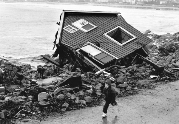 Gloucester: File photo of the Perfect Storm (no name storm of 1991)  (Photo by Cristin Bradley/Gloucester Daily Times). Wednesday, January 29, 2003.